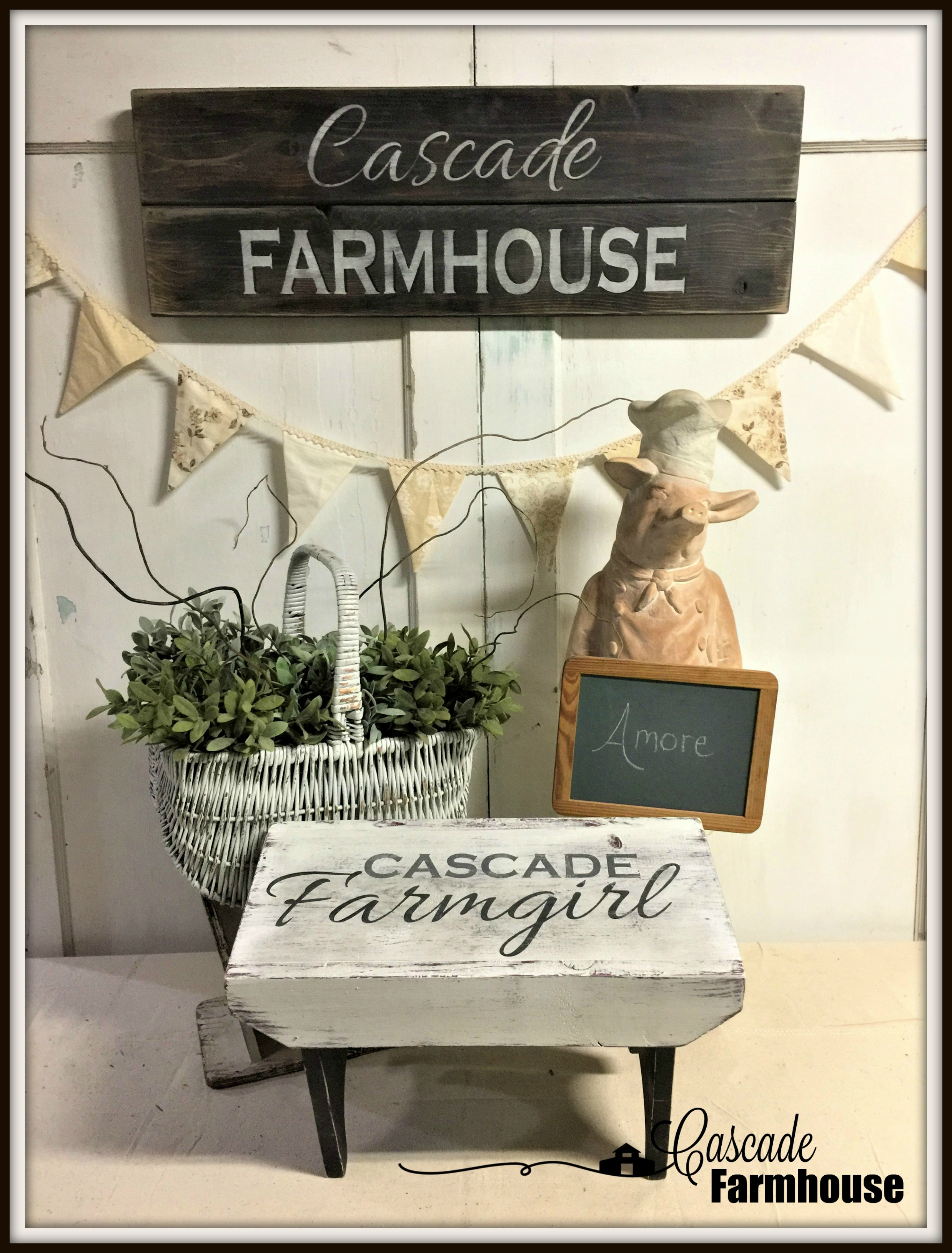 DIY-Farmhouse Step Stool Make Over