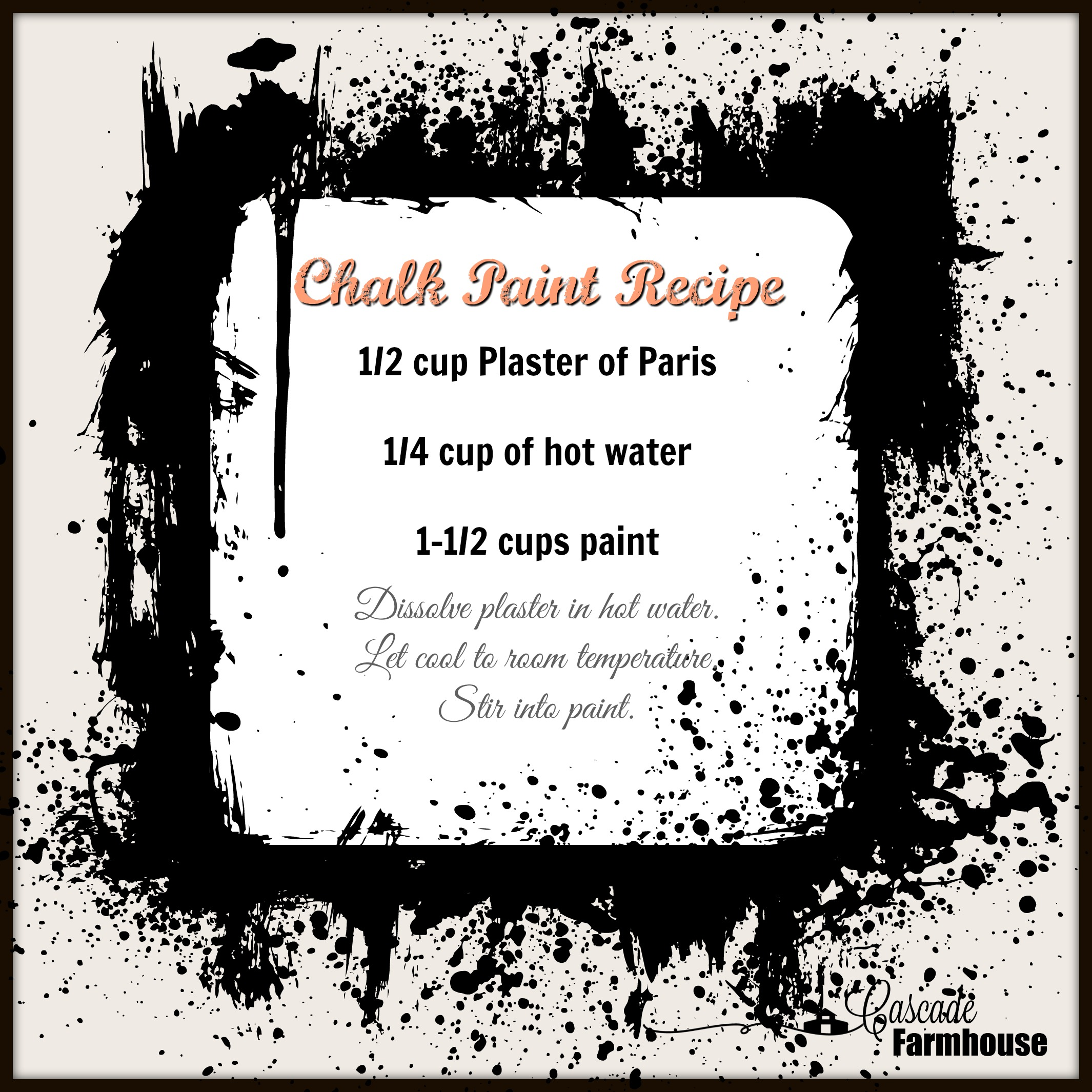 Home Made Chalk Paint Recipe